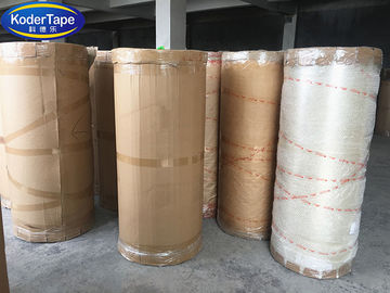Heavy Duty Packing Tape 48MM X 4000M Printable Jumbo Roll In Yellowish Color