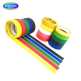 Fluorescent Colour Paper Masking Tape Synthetic Rubber Adhesive ISO Certification