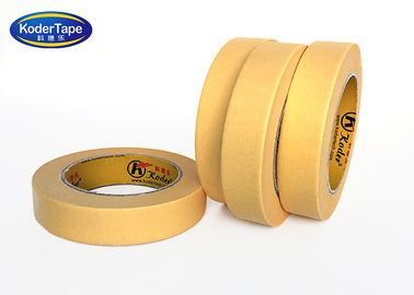 ISO Paper Masking Tape Yellow Color Automotive Decorative Car Painting Crepe